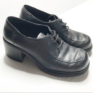 Parade Shoes - Parade Black Leather Chunky Lace Up Shoes 7